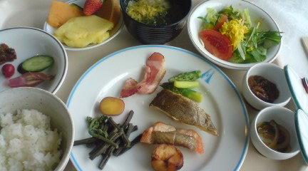 ぷりぷりつぼ鯛@八戸グランドホテルの朝食